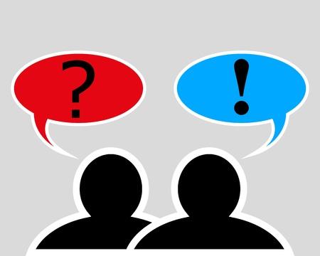 conversation between two people Vector