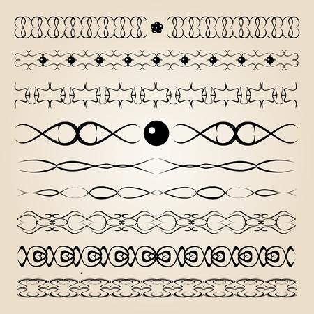 set of vector calligraphy elements Stock Vector - 19172290