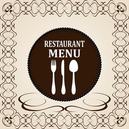 antique chic: Restaurant menu design