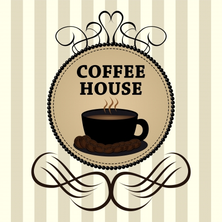 coffee house: Menu for restaurant, bar, cafe, dining room, coffee house Illustration