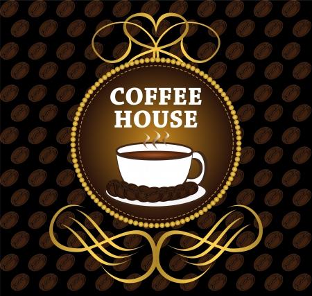 coffee bar: Menu for restaurant, bar, cafe, dining room, coffee house Illustration