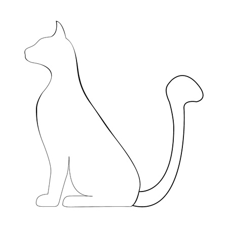 silhouette of a cat Illustration