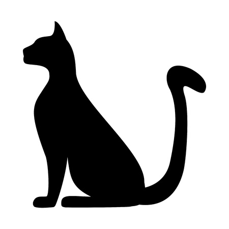 silhouette of a cat Иллюстрация