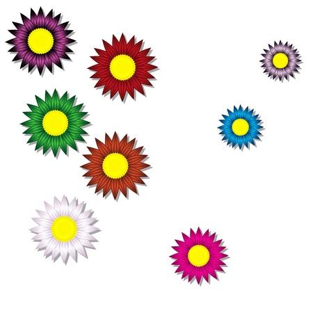 long term: fondo de flores de papel