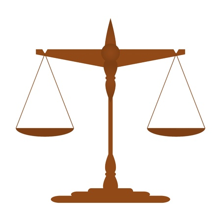 Scales of Justice  vector Stock Vector - 19987794