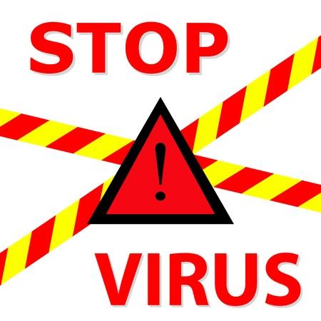 biological waste: Warning sign  Stop Virus