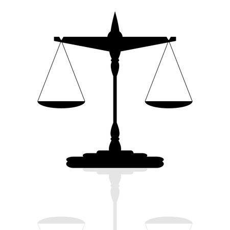 justice balance: Scales of Justice  vector