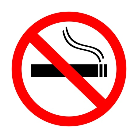 black smoke: no smoking sign