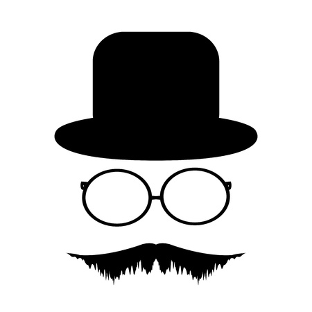 Mustache, glasses and a hat Stock Vector - 20835997