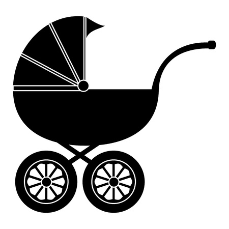 black baby boy: Baby carriage
