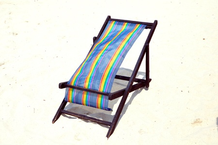 lounger: lounger on the sand