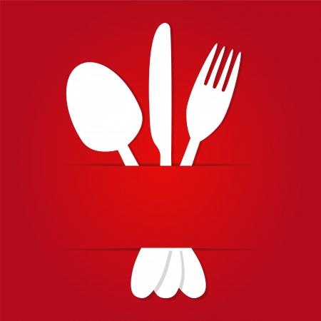 Fondo del menú con el lugar para el texto
