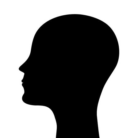 man profile: silhouette of a man head  Illustration