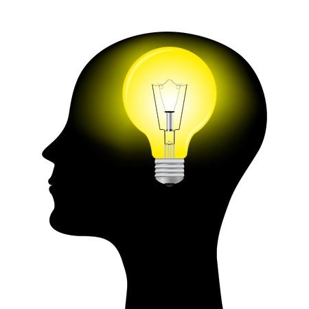 whose: sagoma di un uomo con una lampada da testa