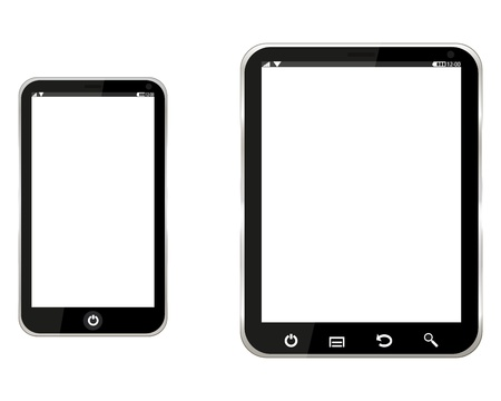 tablet computer and mobile phone Stock Vector - 21124072