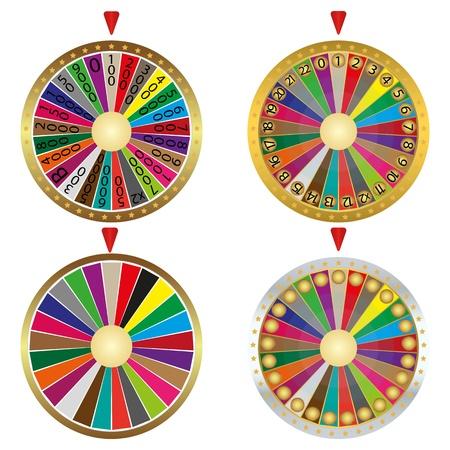 rueda de la fortuna: modelo de tracci�n en las cuatro ruedas fartuny Vectores