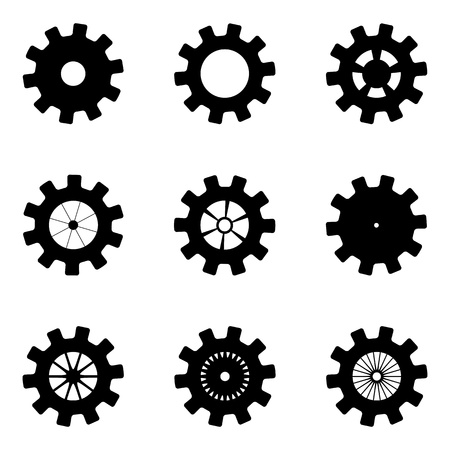 Black mechanisms on a white background Stock Vector - 21124118