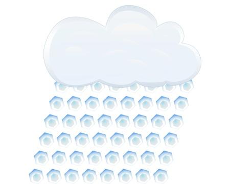 granizo: icono de granizo