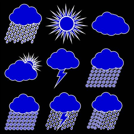 Weather Web vector Icons Set Vector