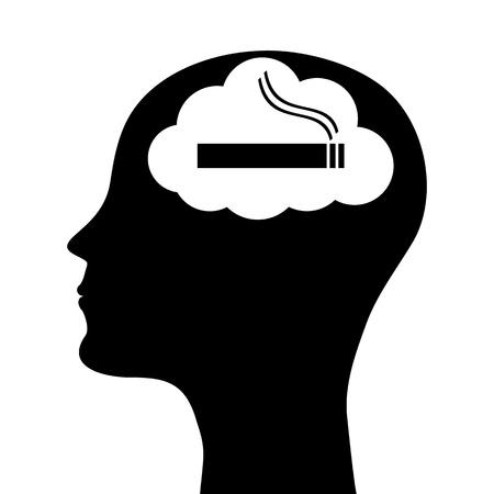head silhouette smoker Imagens - 21218804