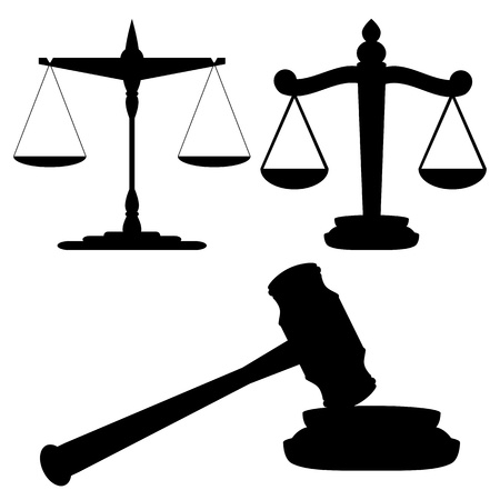 Scales of justice and gavel Stock Vector - 21218817
