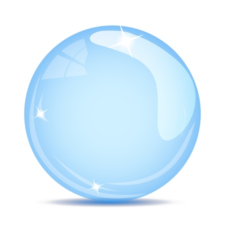 soap bubble on white background Illustration