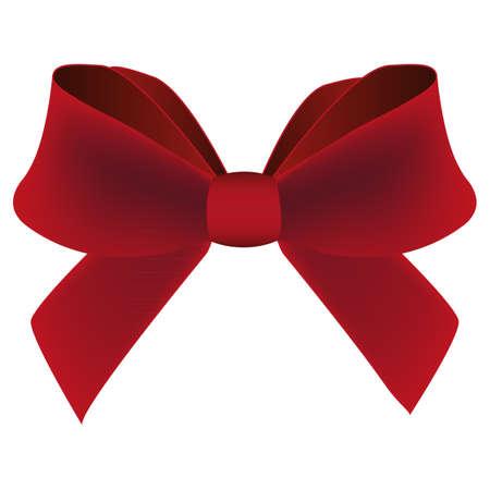 burgundy ribbon: fiocco rosso Vettoriali