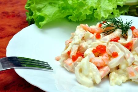 Royal Seafood Salad Stock Photo - 22230741