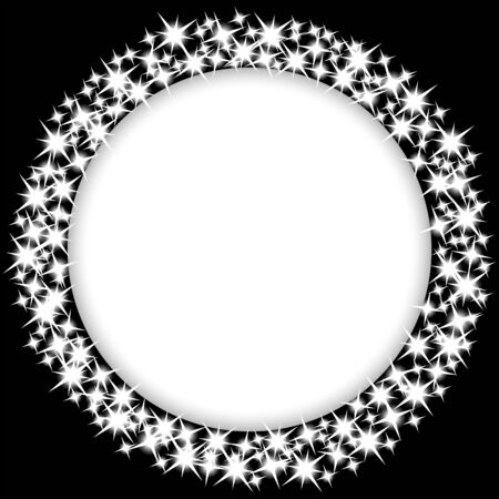 award lit: round frame with stars