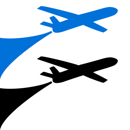 Airplane symbol design Vector