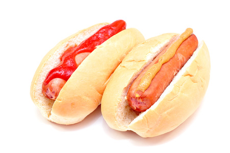 fatty food: two classic hot dog