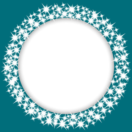 round frame with stars Vector