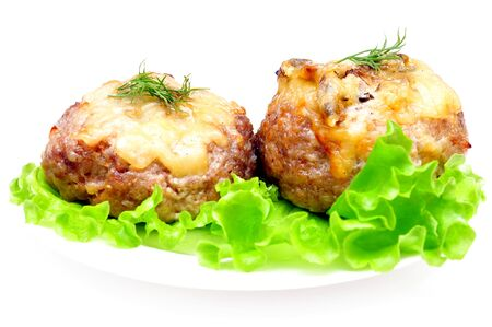 cutlet stuffed with mushrooms Stock Photo