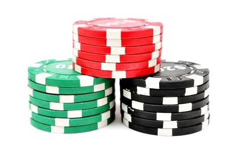 chips for poker Stock Photo - 22633734