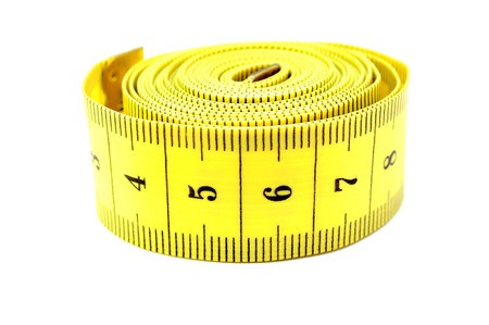measuring tape on a white background photo