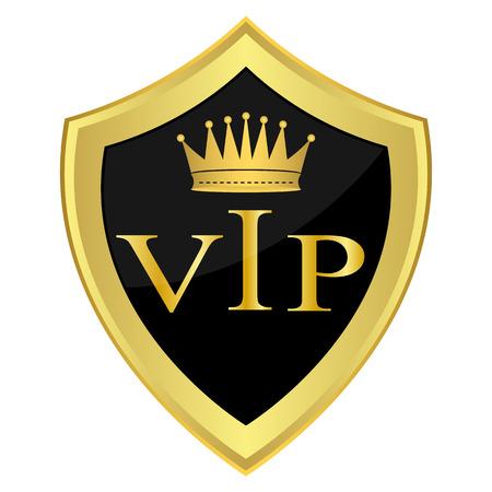 repujado: Escudo negro con la inscripci�n VIP