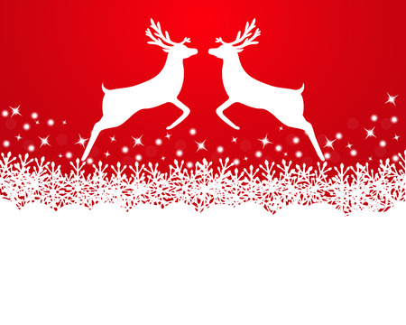 Merry Christmas background with snowflakes Vector