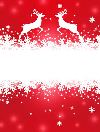 Greeting Christmas card with banner for text Vector