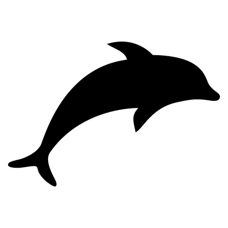 silhouette dolphin illustration  Иллюстрация