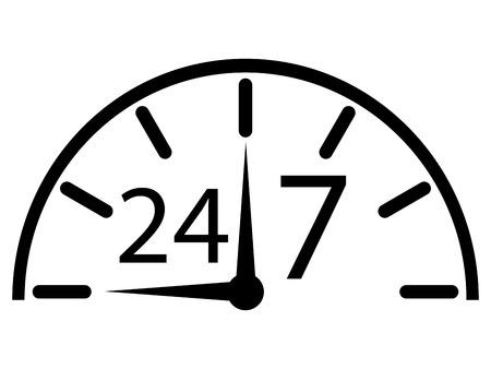 opening hours: opening hours illustration  Illustration