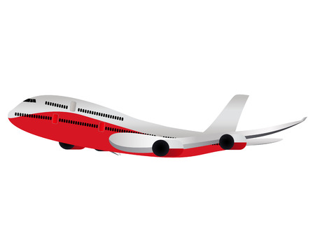 two story: Large passenger plane illustration