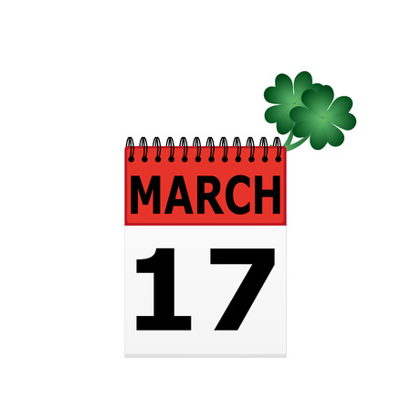 St  Patrick s Day on the calendar Vector