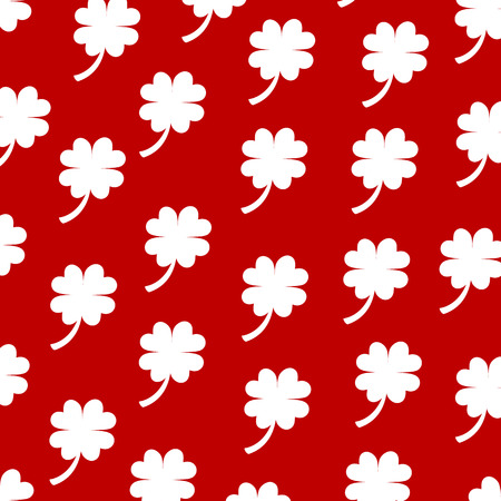 background of white clover Vector