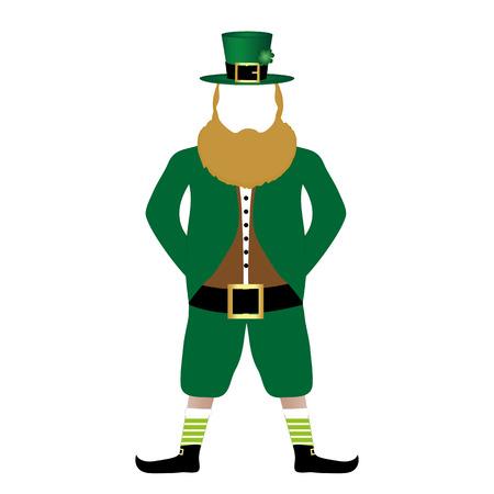 st  patrick's day: Leprechaun symbol of St  Patrick s Day Illustration