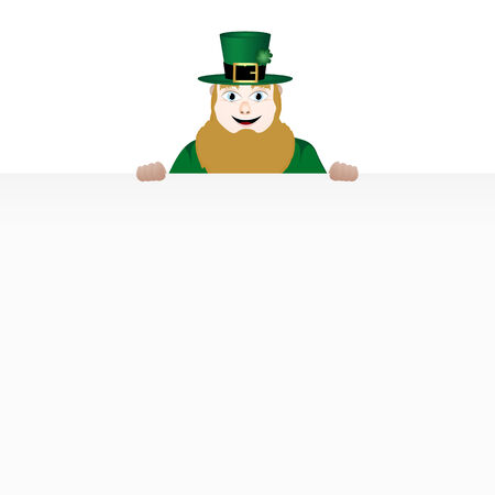 leprechaun with banner Vector