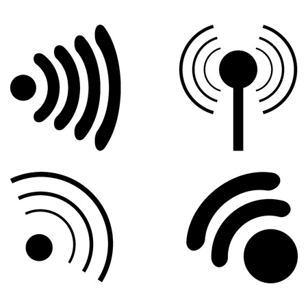 radio beams: set Icons Wi fi