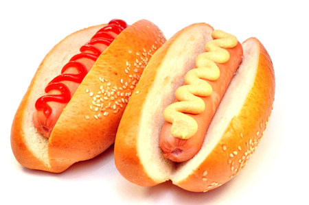 two classic hot dog