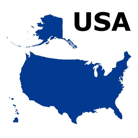 the united states: United States of America Map Illustration