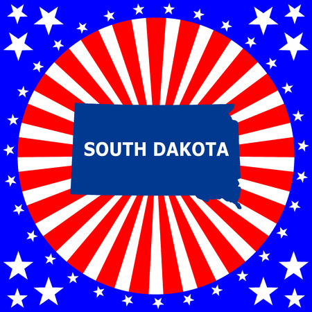 map of the U S  state of South Dakota Vector