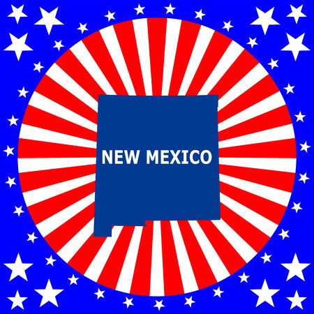 map of the U S  state of New Mexico Vector